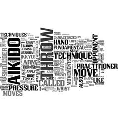 aikido fundamentals text word cloud concept vector image