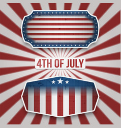 American 4th july holiday banners vector