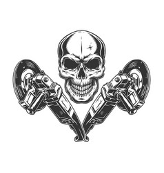 Angle grinder machines and skull vector