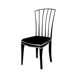 art deco chair silhouette vector image vector image