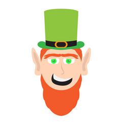 Avatar of a happy irish elf vector