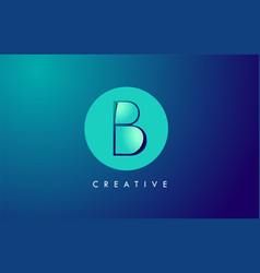 b letter logo icon design with paper cut creative vector image