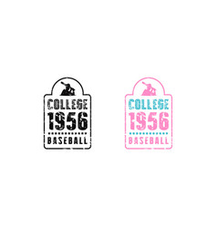 Baseball emblem for t-shirt vector