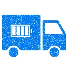 Battery Delivery Truck Grainy Texture Icon vector image