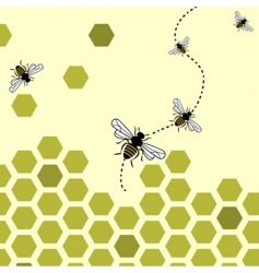 Bees background vector