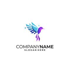 bird colorful designs concept template vector image
