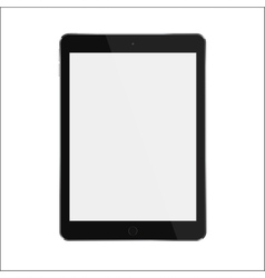 Black realistic smart tablet with blank white vector image