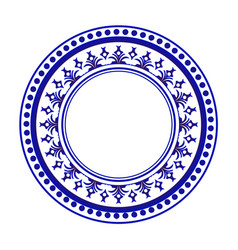 blue and white round design vector image