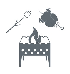 Brazier chicken and zephyr and chicken icon vector