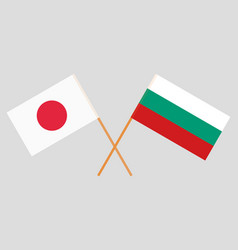 Bulgaria and japane flags vector