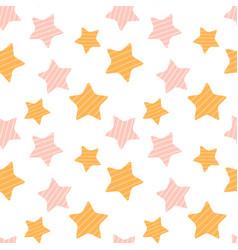cartoon holiday star stripes seamless pattern vector image