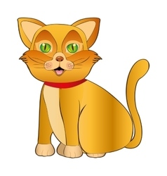 cat pet mascot cute isolated vector image