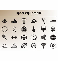 Collection of stylish icons sport equipment vector