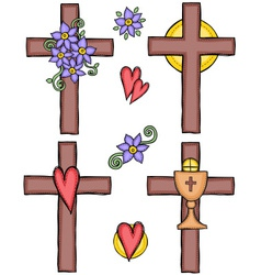 crosses vector image
