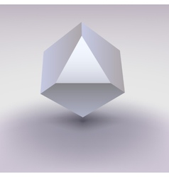 Cube with cropped center place for text vector