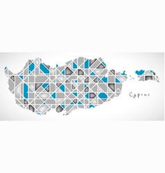 Cyprus map crystal diamond style artwork vector