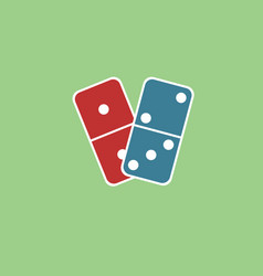 Domino on white background vector