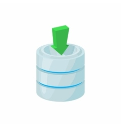 Download database icon cartoon style vector