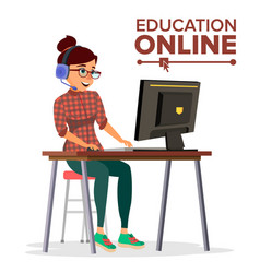 Education online home online education vector