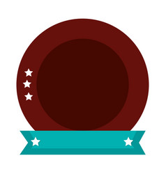 emblem with stars icon vector image