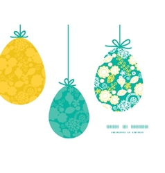emerald flowerals hanging Easter eggs vector image