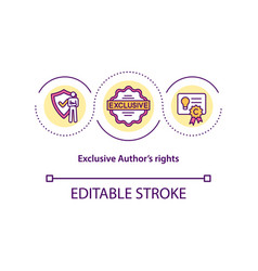 exclusive authors rights concept icon vector image