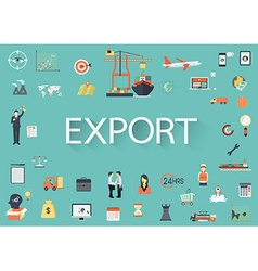 Export flat icons vector image