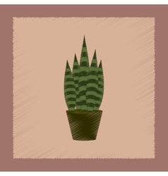 Flat shading style plant sansevieria vector