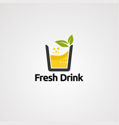 fresh drink logo icon element and template vector image