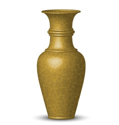 Golden vase vector