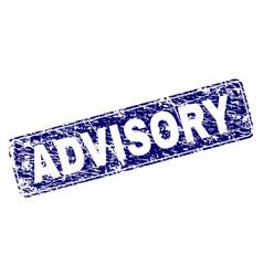 Grunge advisory framed rounded rectangle stamp vector