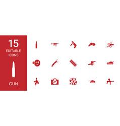 gun icons vector image