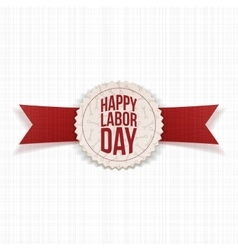 Happy Labor Day realistic Holiday Banner vector