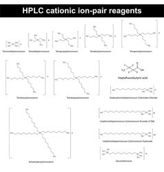 HPLC cationic ion pair reagents vector