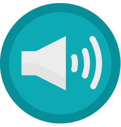 icon of a sound on button in flat style vector image