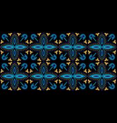 Indigo geometric arabesque ornament vector