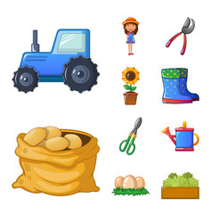 isolated object of farm and agriculture icon vector image