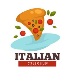 italian cuisine traditional food italy pizza vector image