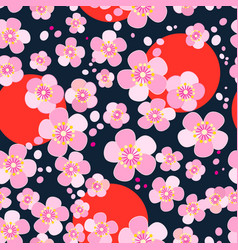 Japanese cherry blossoms vector