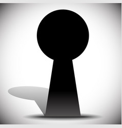 Keyhole graphics for secrecy privacy concepts vector