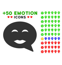 lady pleasure smiley message icon with bonus vector image
