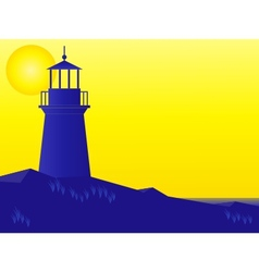 lighthouse at sunrise vector image