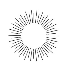 Linear sun rays painted in vintage style vector
