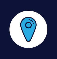 location icon sign symbol vector image
