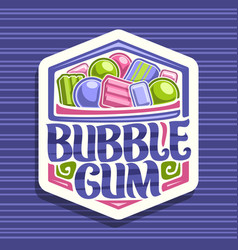 logo for bubble gum vector image