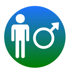 male sign white icon in vector image