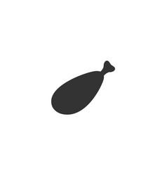 meat leg icon flat vector image