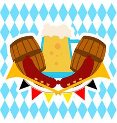 oktoberfest beer pitcher banner vector image