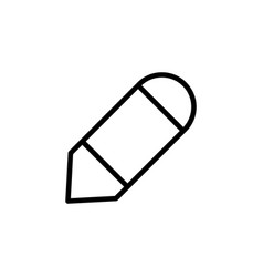 pencil tool icon can be used for web logo mobile vector image