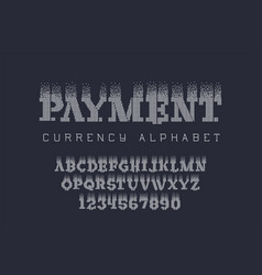Pexel style lettering - electronic coin font vector